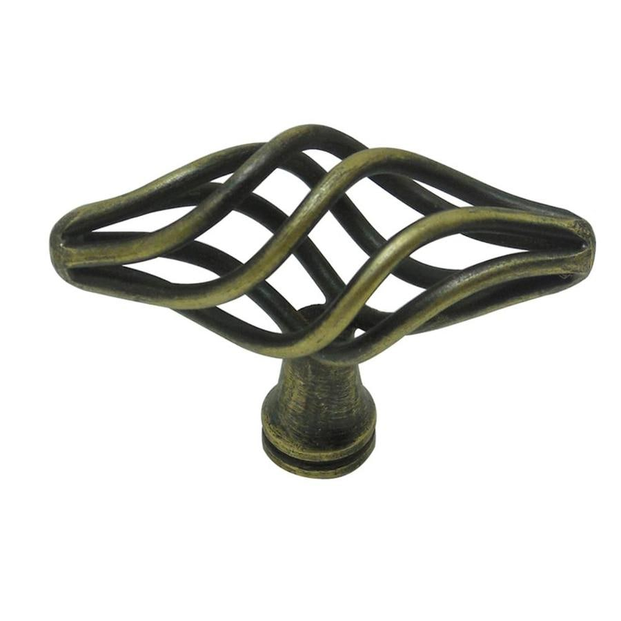 Style Selections Antique Brass Oval Cabinet Knob
