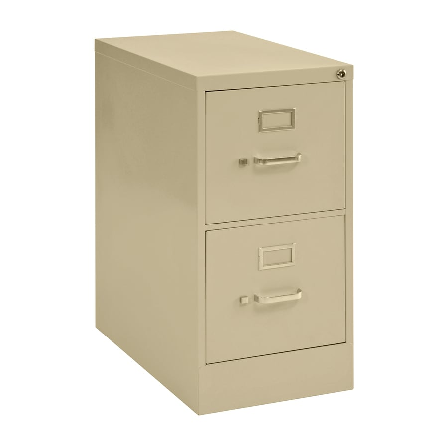 edsal Sandusky Vertical Files Putty 2-Drawer File Cabinet