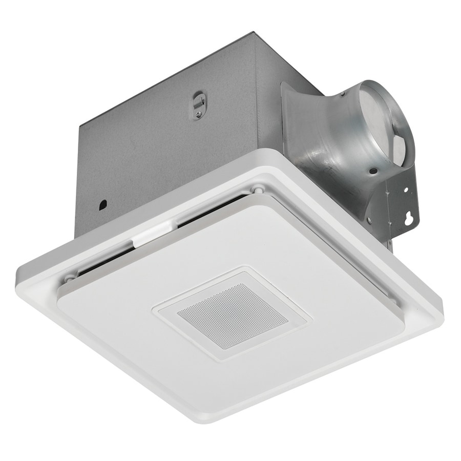 Home Netwerks 110 Cfm Square Led Bt Bath Fan At Lowes Com