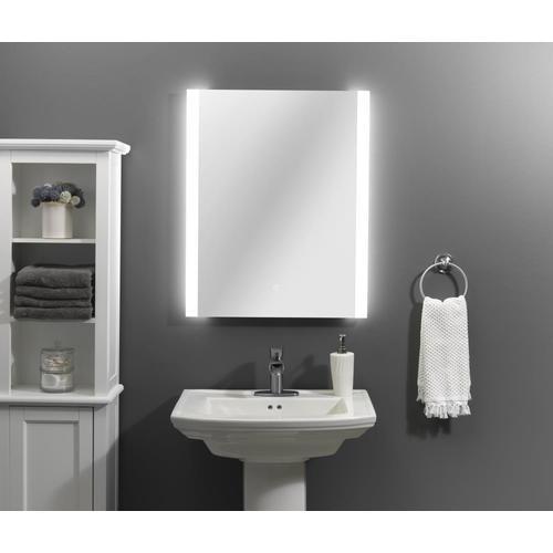 Home2O 24-in LED Lit Mirror Rectangular Frameless Lighted ...