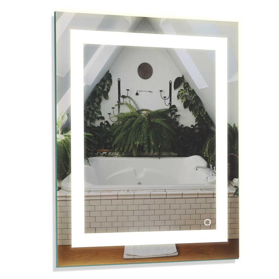 Home2o Hele Led Lit Mirror Rectangular Frameless Lighted