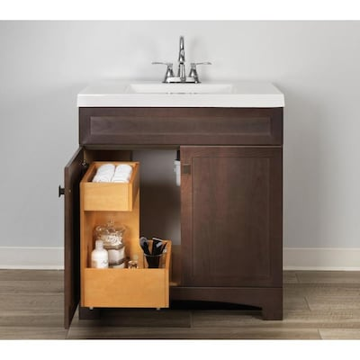 Style Selections Vanity Storage Natural Finish Bathroom Vanity Drawer Organizer 12 In X 18 In In The Bathroom Vanity Accessories Department At Lowes Com