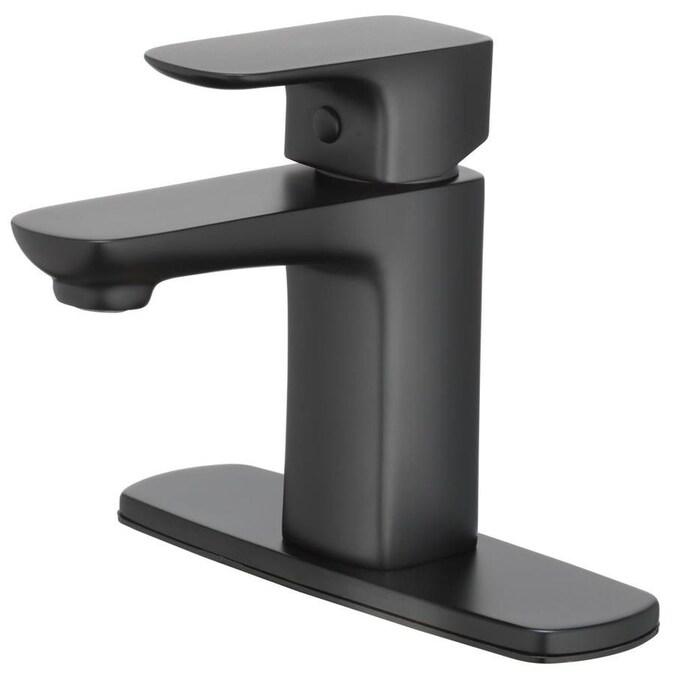 Home2O Farrah Matte Black 1-handle 4-in Centerset ...