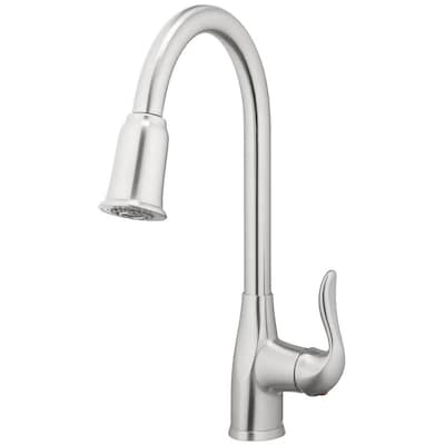 Zinnia Brushed Nickel 1-handle Deck Mount Pull-down Kitchen Faucet