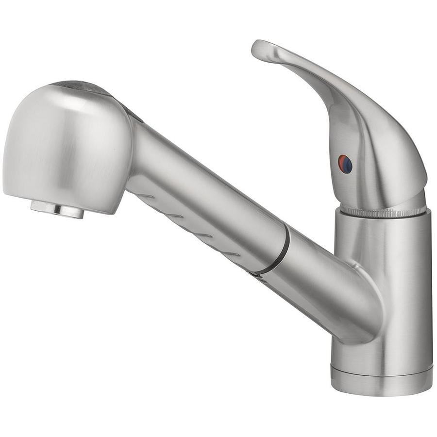 Charmant Home2O Schyler Brushed Nickel 1 Handle Deck Mount Pull Out Sprayer Kitchen  Faucet