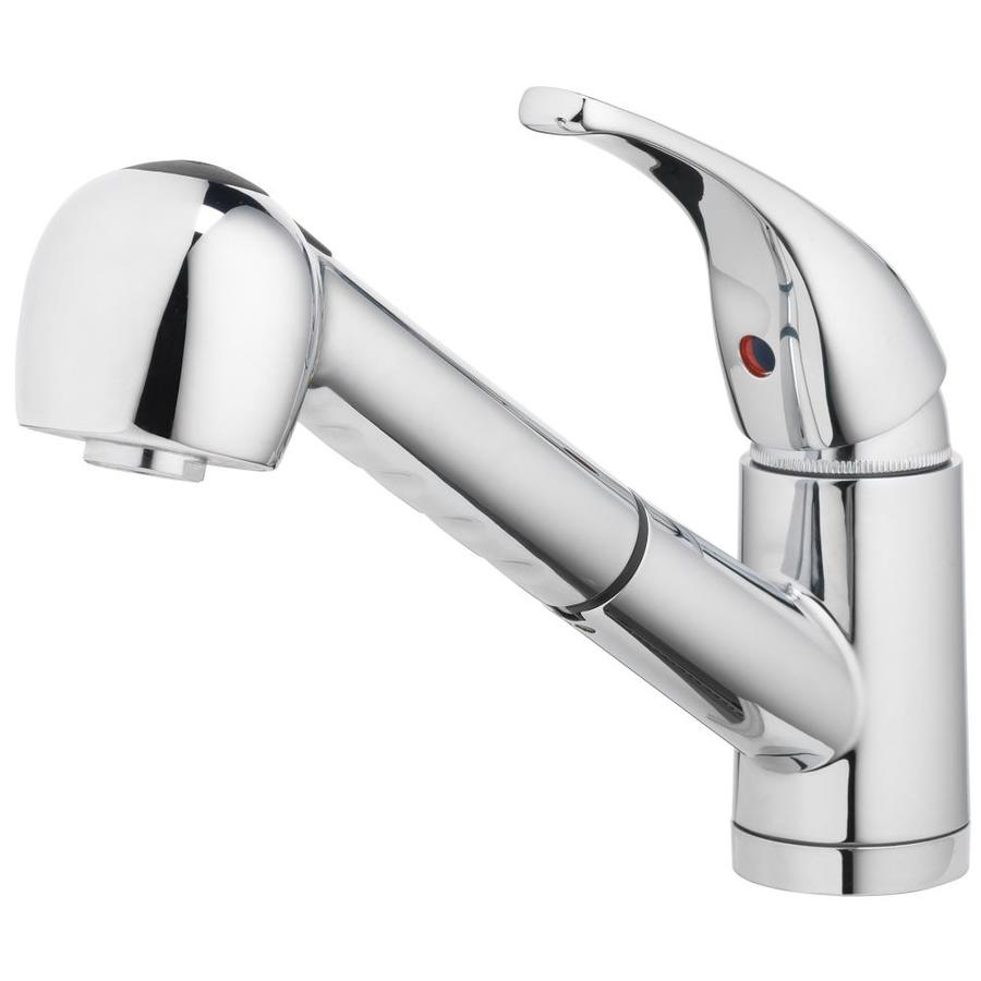 Charmant Home2O Schyler Chrome 1 Handle Deck Mount Pull Out Sprayer Kitchen Faucet