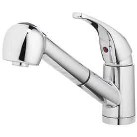 Home2O 1 Handle Deck Mount Pull Out Sprayer Kitchen Faucet