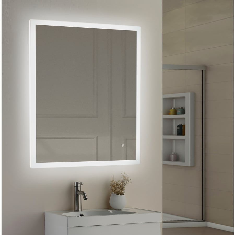 Style Selections 36 In Led Lit Mirror Rectangular Lighted