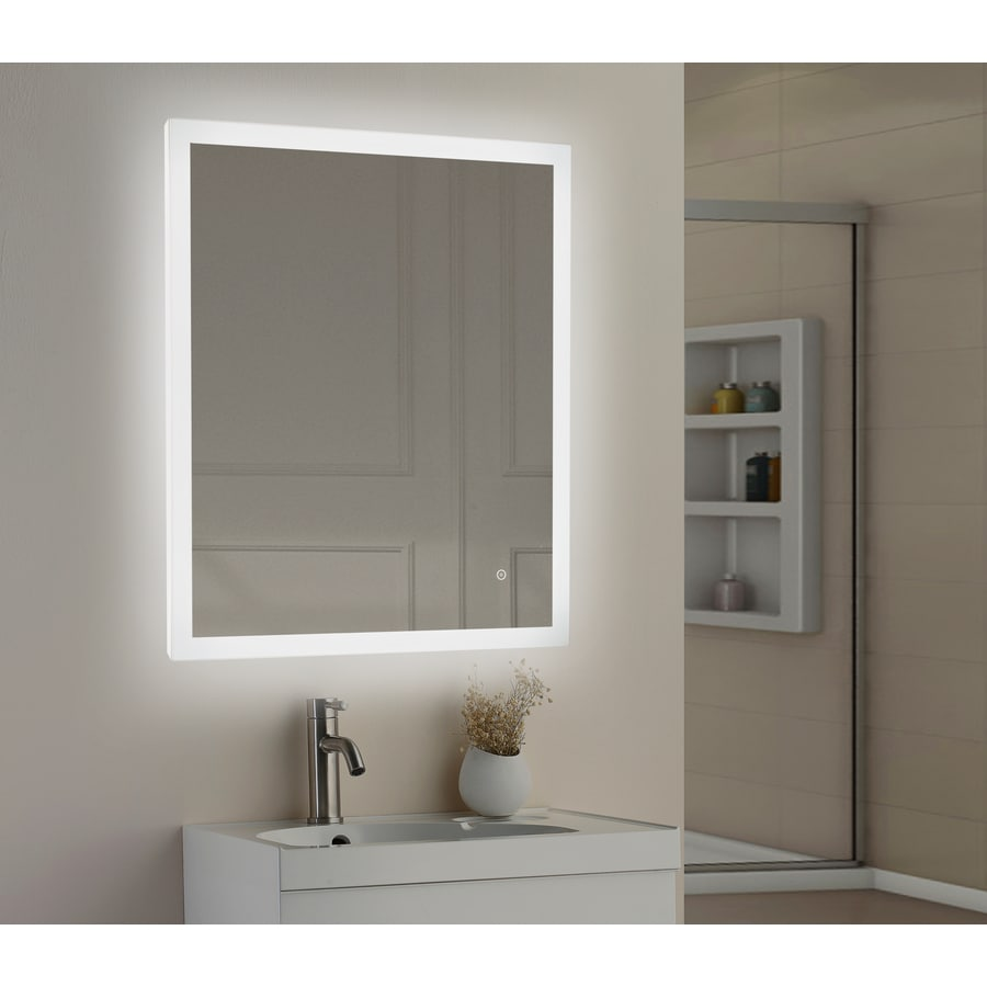 Shop Style Selections 30-in LED Lit mirror Rectangular Lighted LED ...