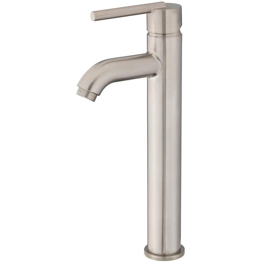 Jacuzzi Faucets Brushed Nickel 1 Handle Vessel Bathroom Sink Faucet