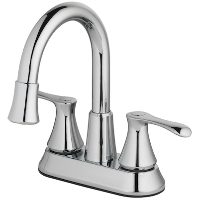 Homewerks Worldwide Led Aerator Chrome 2 Handle 4 In Centerset Watersense Bathroom Sink Faucet With Drain In The Bathroom Sink Faucets Department At Lowes Com