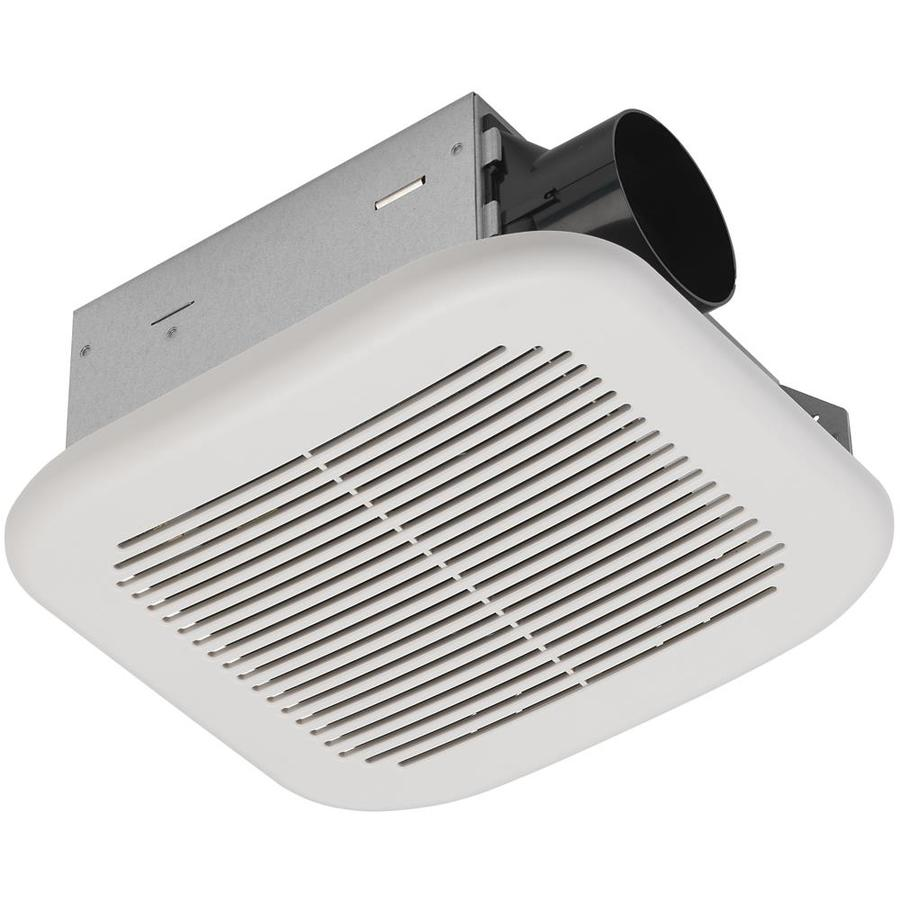 Shop Utilitech 2 Sone 70 Cfm White Bathroom Fan Energy Star At