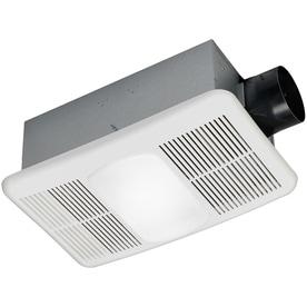 Utilitech Heater 1 5 Sone 80 Cfm White Bathroom Fan With