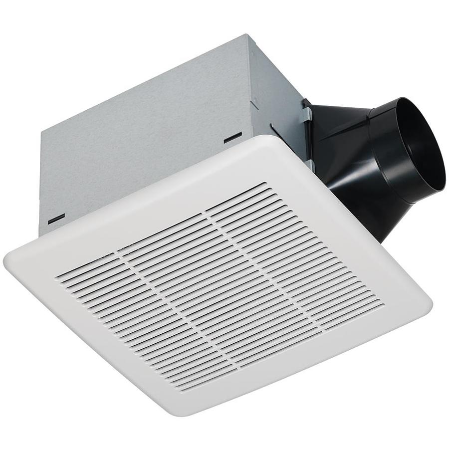 0 3 Sones 80 Cfm White Bathroom Fan ENERGY STAR. Shop Bathroom Fans at Lowes com