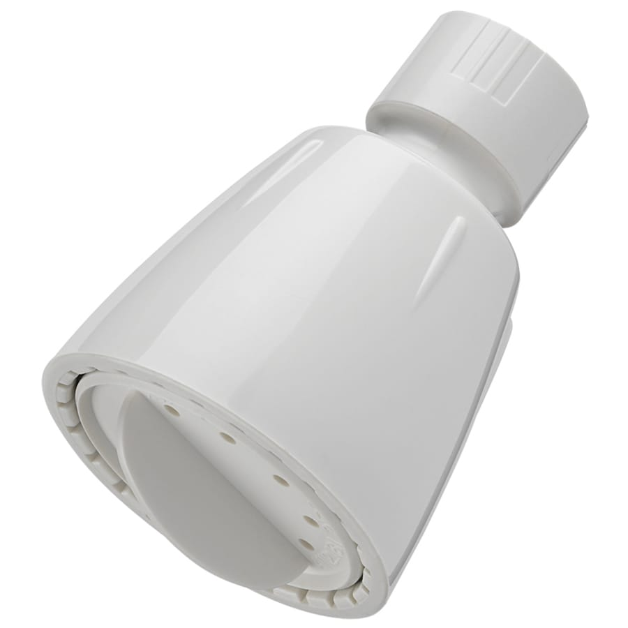 Project Source 2-in 2.5-GPM (9.5 Lpm) White 1-Spray Showerhead