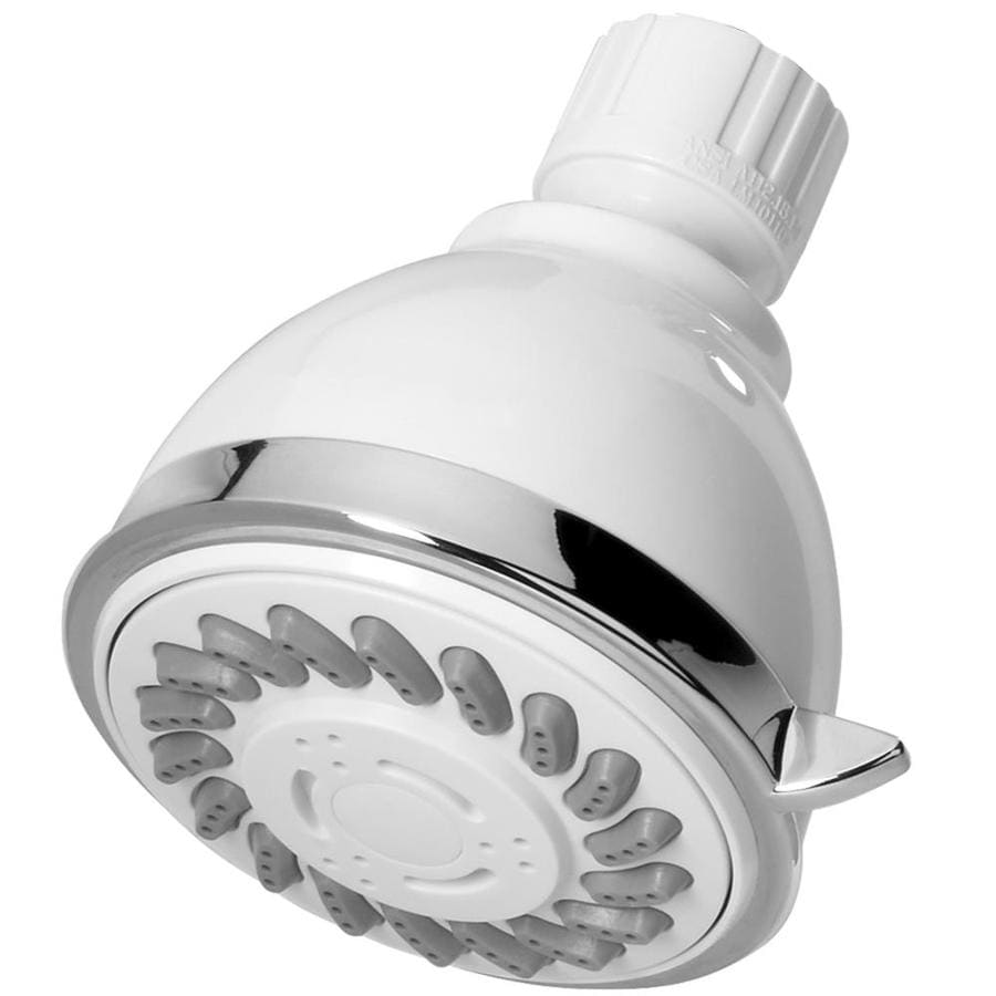 AquaSource 3-in 2.5-GPM (9.5-LPM) White 3-Spray Showerhead