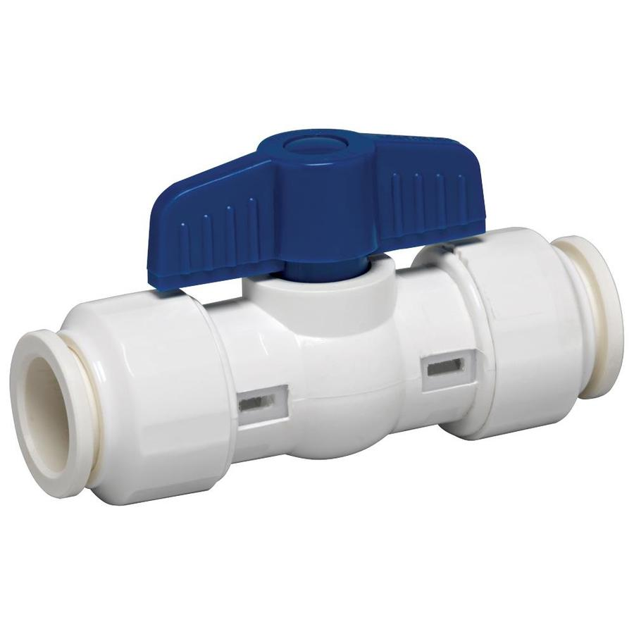 GripWerks 1/2-in PVC Sch 40 Push Fit In-Line Ball Valve