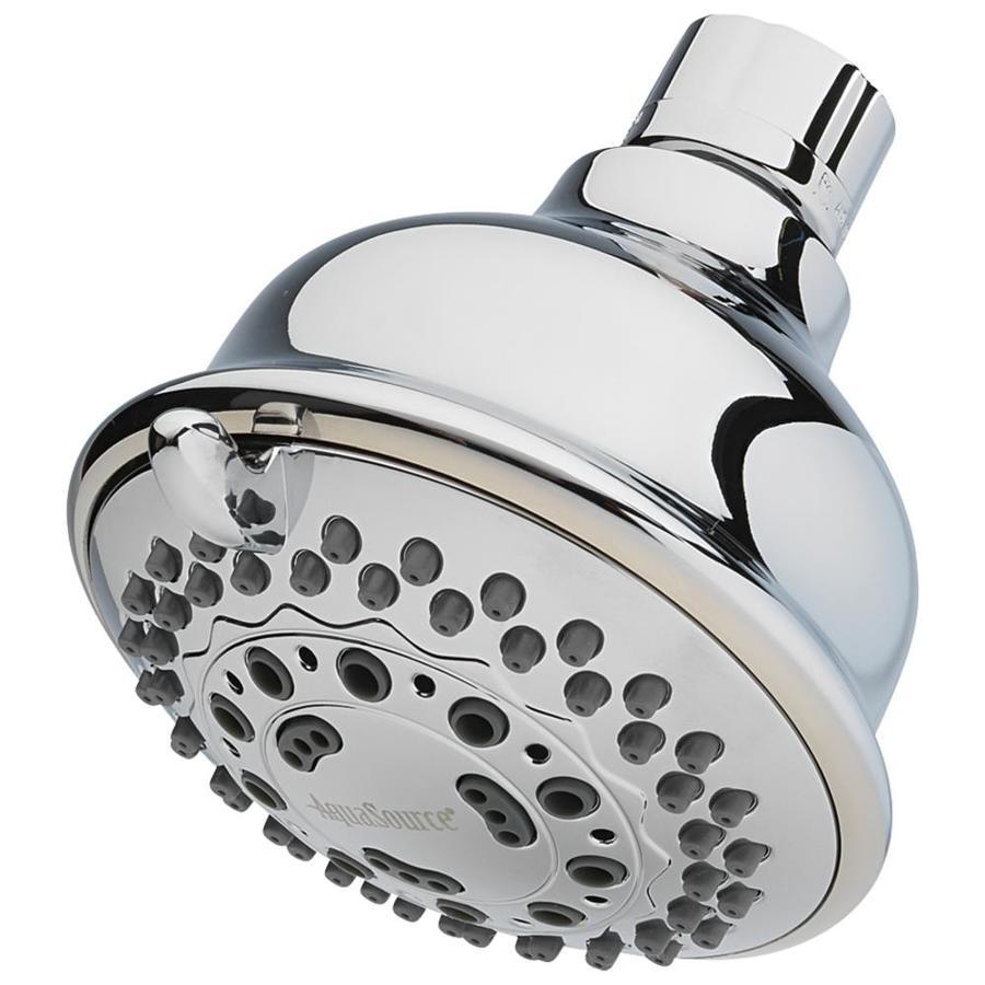 AquaSource 3.75-in 2.0-GPM (7.6-LPM) Chrome 6-Spray WaterSense Showerhead