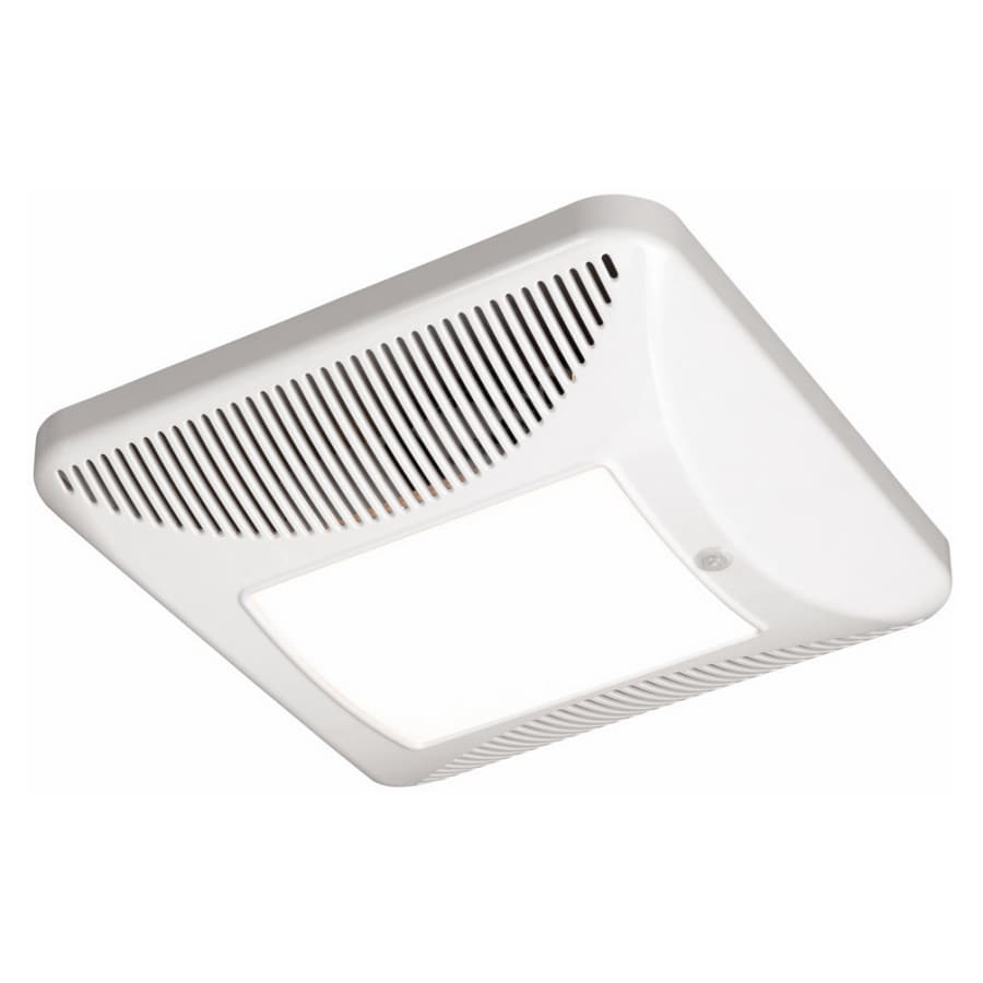 Lowes Bathroom Exhaust Fans With Light Stunning Bathroom: Shop Harbor Breeze White 110 CFM Bath Fan With Light At