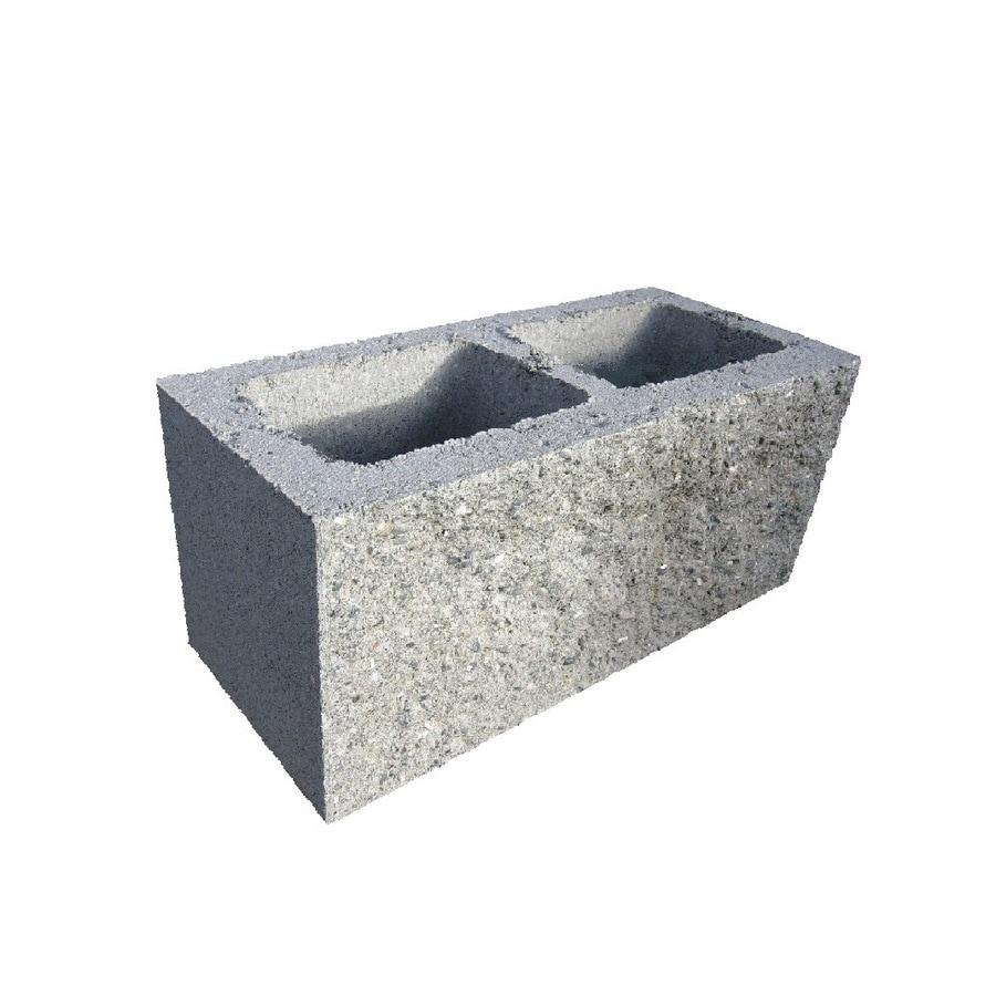 Shop split faced cored concrete block common 8 in x 8 in for Split face block house