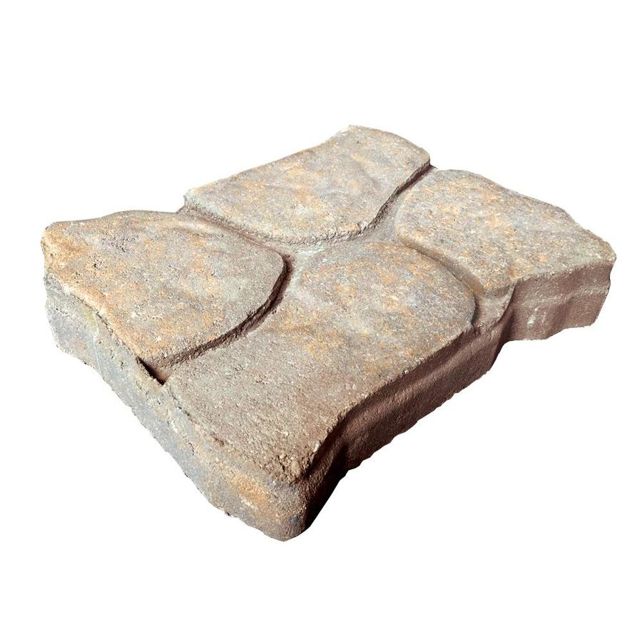 Alameda Buff and Charcoal Interlocking Patio Stone (Common: 11-in x 13-in; Actual: 11-in x 13-in)