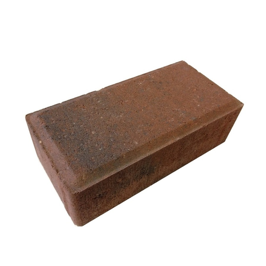 Red/Charcoal Paver (Common: 4-in x 8-in; Actual: 4-in x 8-in)