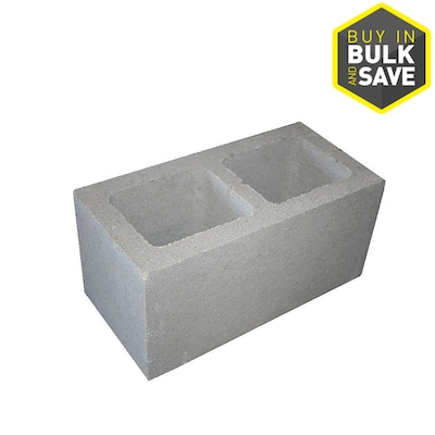 undefined 8-in x 8-in x 16-in Standard Cored Concrete Block