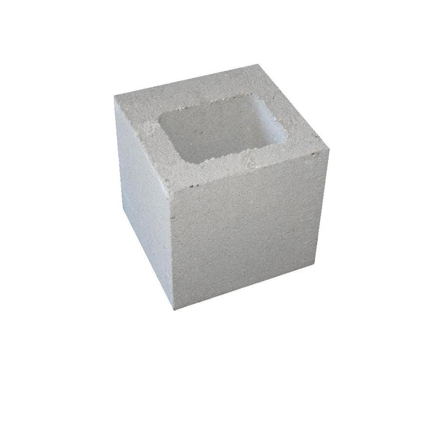 Standard Cored Concrete Block (Common: 8-in x 8-in x 8-in; Actual: 7.625-in x 7.625-in x 7.625-in)