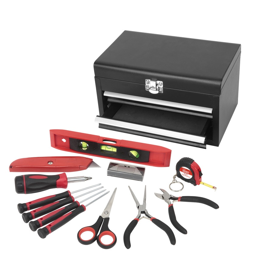 Task Force 19-Piece Metal Box Tool Set