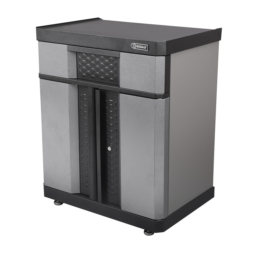 Kobalt 30-in W x 36.5-in H x 20.5-in D Steel Freestanding or Wall-Mount Garage Cabinet