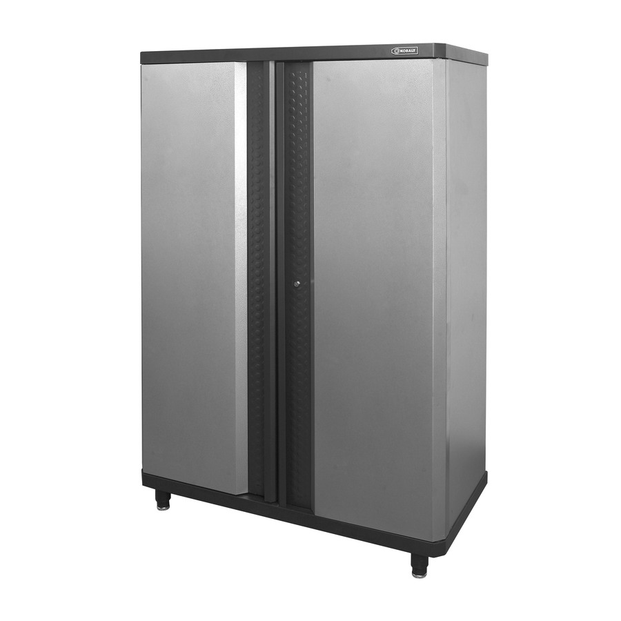 Kobalt 48-in W x 72.375-in H x 20.5-in D Steel Freestanding or Wall-Mount Garage Cabinet