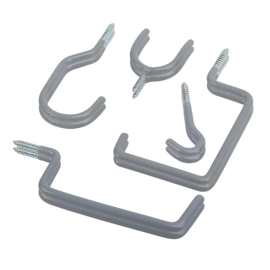 Blue Hawk 4.6-in Gray Steel Multipurpose Hook