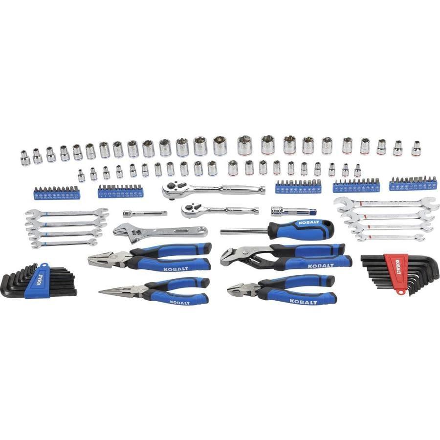 Kobalt 133-Piece Standard (SAE) and Metric Mechanic's Tool Set with Hard Case