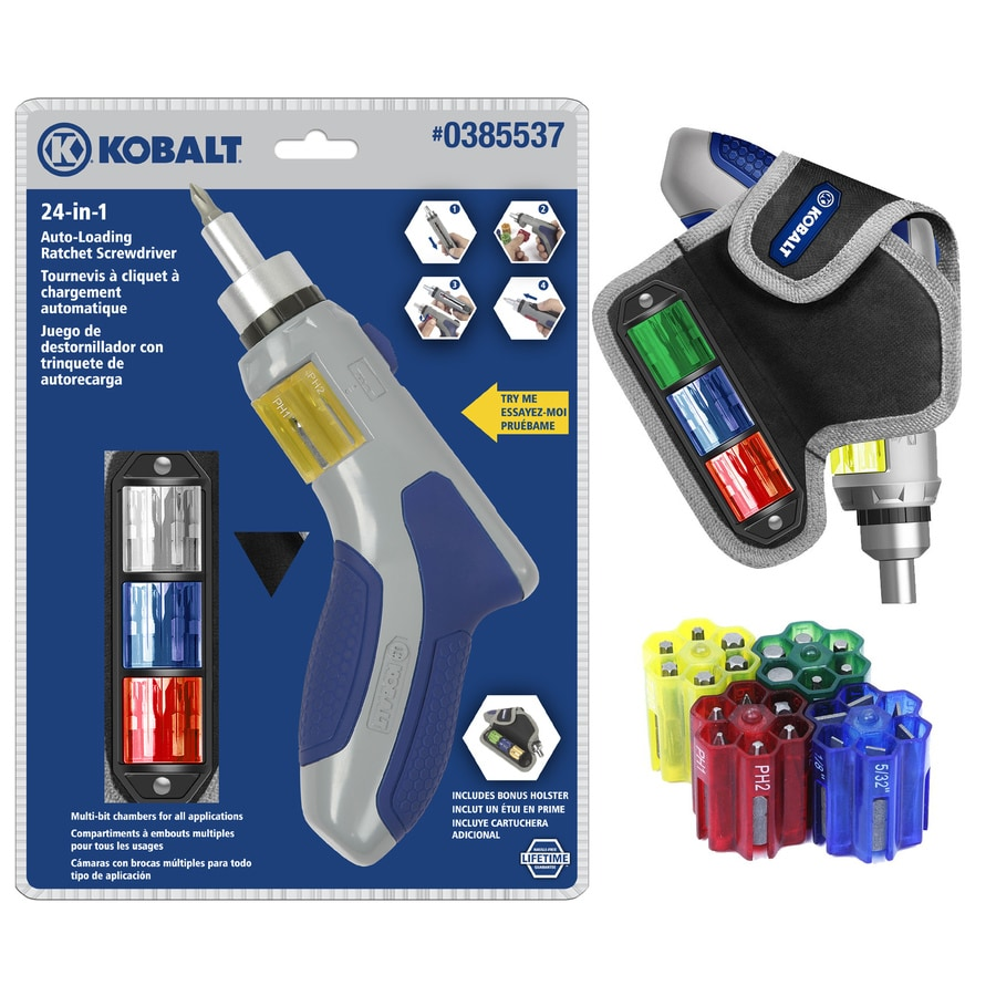 shop kobalt auto loading ratchet screwdriver set at. Black Bedroom Furniture Sets. Home Design Ideas