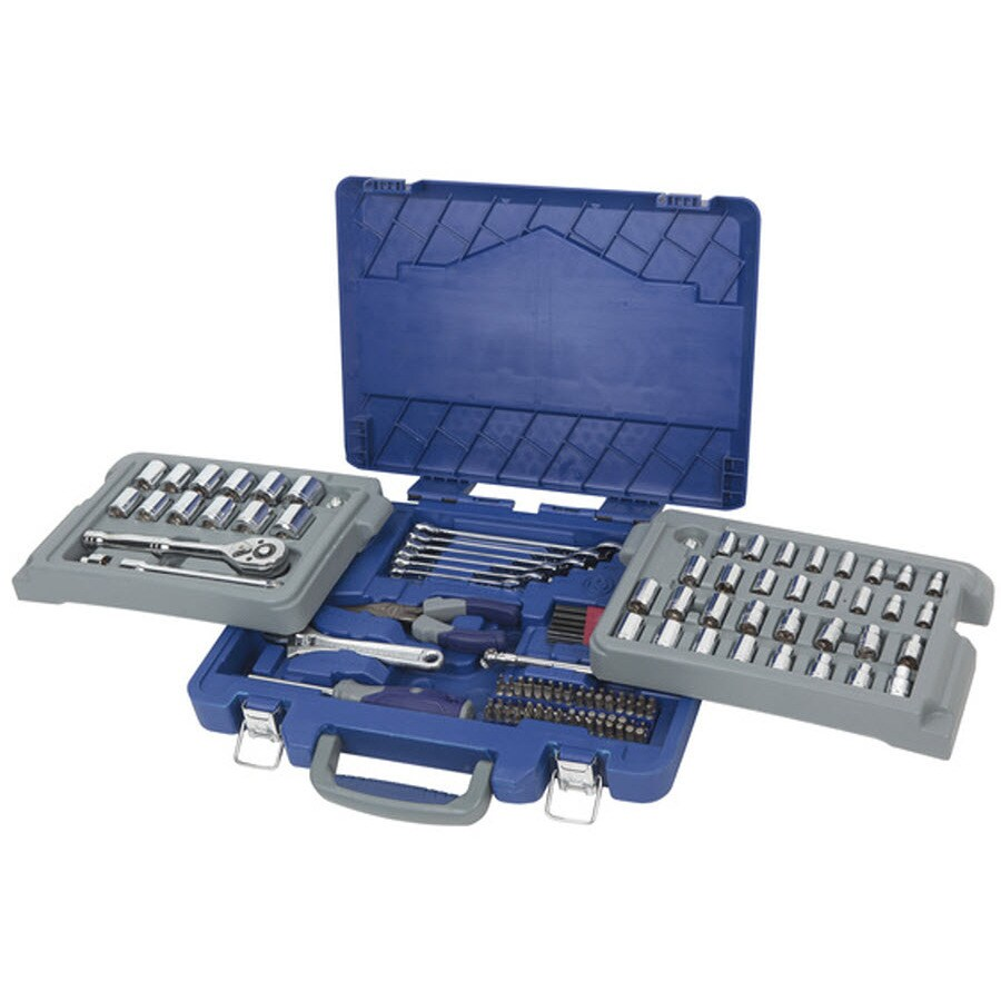 Kobalt 131-Piece Standard (SAE) and Metric Combination Mechanic's Tool Set