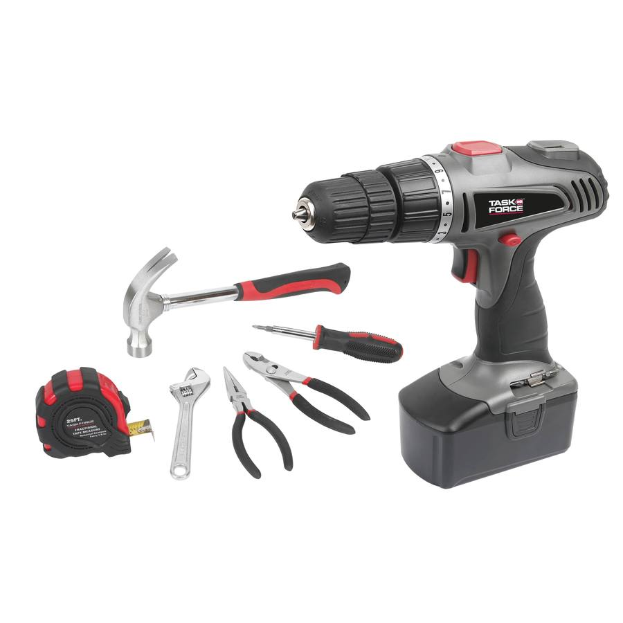 Task Force Taskforce 18-Volt 3/8-in Cordless Drill with Battery and Hard Case