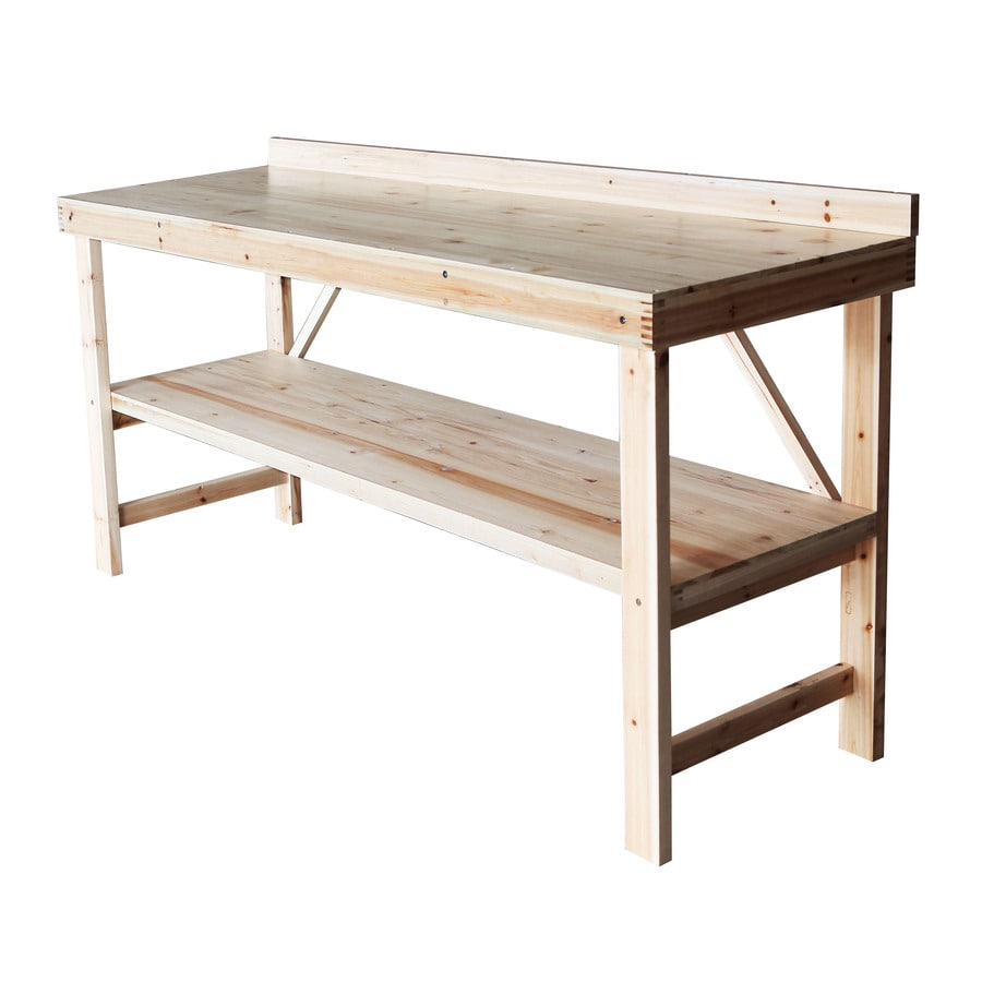 Shop 'N Scribe 6-ft Solid Wood Workbench with Storage at Lowes.com