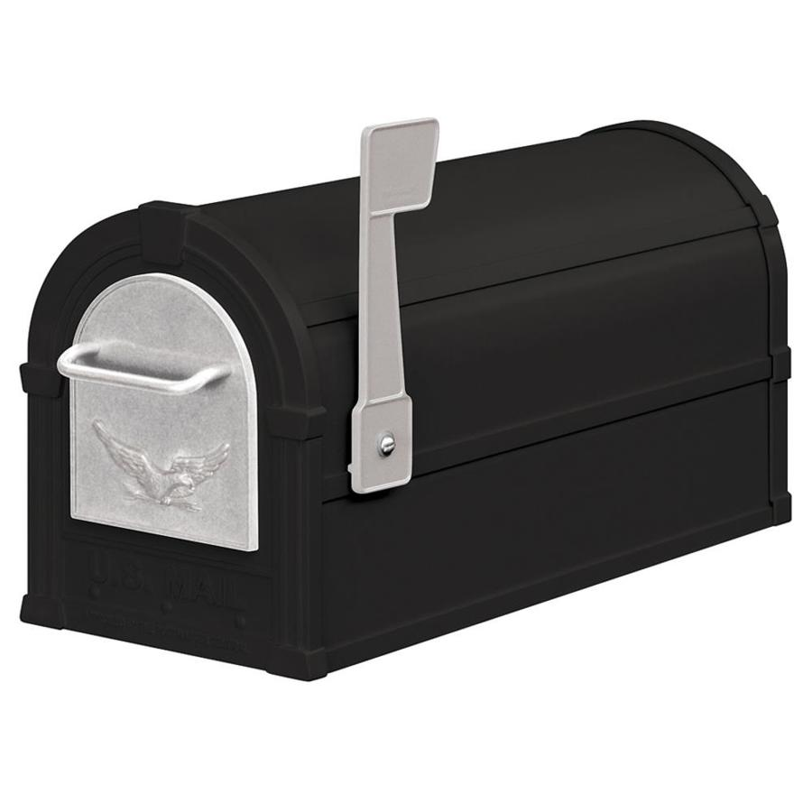 SALSBURY INDUSTRIES 4800 Series 7.5-in x 9.5-in Metal Black Post Mount Mailbox