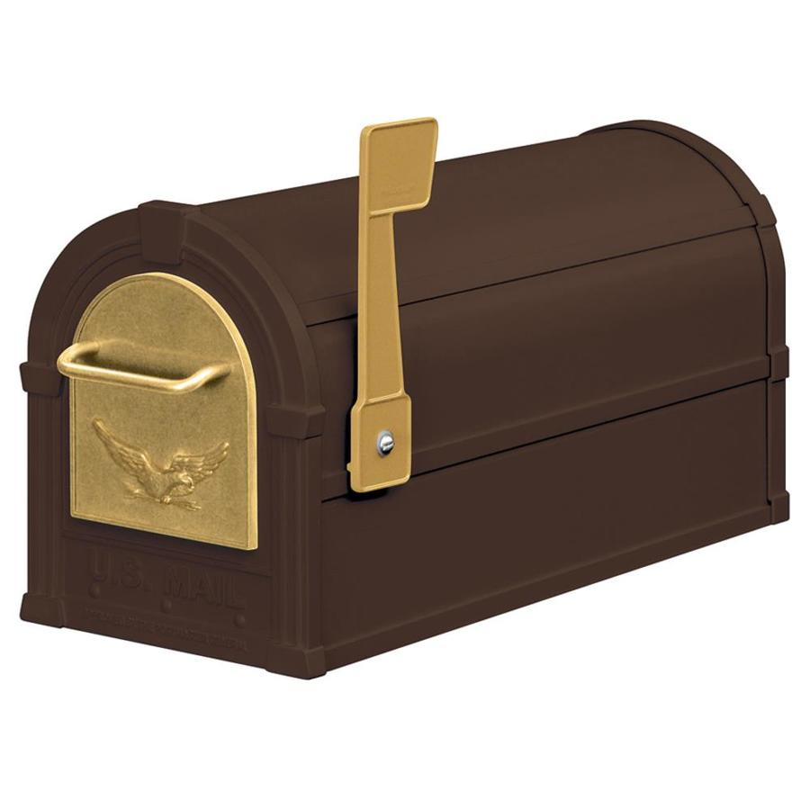 SALSBURY INDUSTRIES 4800 Series 7.5-in x 9.5-in Metal Bronze Post Mount Mailbox