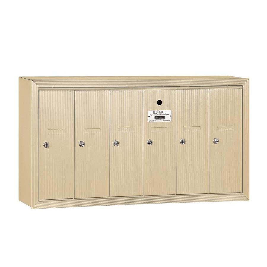 SALSBURY INDUSTRIES 3500 Series 35.25-in x 19-in Metal Sandstone Lockable Wall Mount Cluster Mailbox