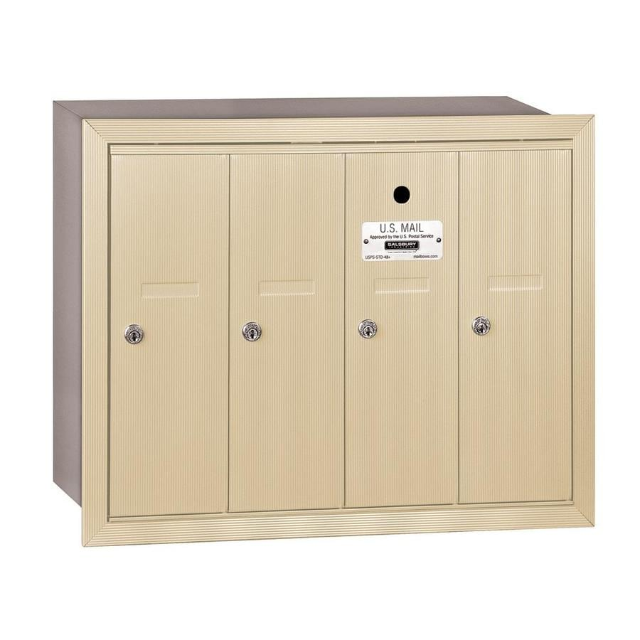 SALSBURY INDUSTRIES 3500 Series 24.25-in x 19-in Metal Sandstone Lockable Recessed Mount Cluster Mailbox