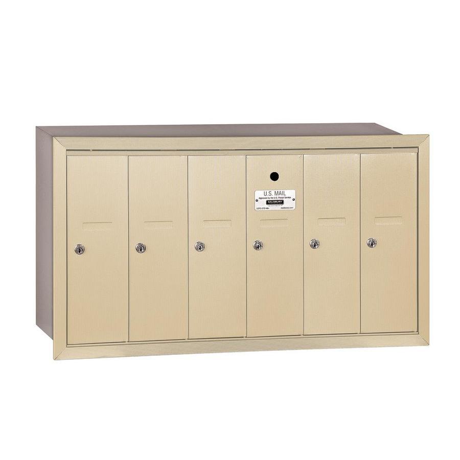 SALSBURY INDUSTRIES 3500 Series 35.25-in x 19-in Metal Sandstone Lockable Recessed Mount Cluster Mailbox