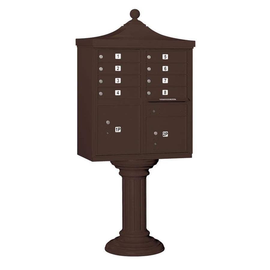 SALSBURY INDUSTRIES 3300 Series 31-in x 71.75-in Metal Bronze Lockable Post Mount Cluster Mailbox