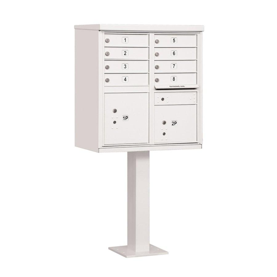 SALSBURY INDUSTRIES 3300 Series 30.5-in x 62.75-in White Lockable Post Mount Mailbox