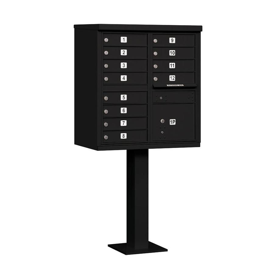 SALSBURY INDUSTRIES 3300 Series 30.5-in x 62.75-in Black Lockable Post Mount Mailbox