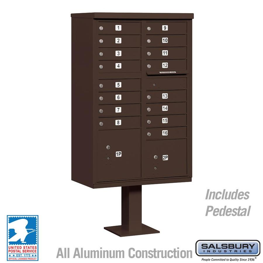 SALSBURY INDUSTRIES 3300 Series 30.5-in x 62.75-in Bronze Lockable Post Mount Mailbox