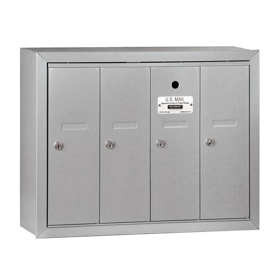SALSBURY INDUSTRIES 3500 Series 24.25-in x 19-in Metal Aluminum Lockable Wall Mount Cluster Mailbox