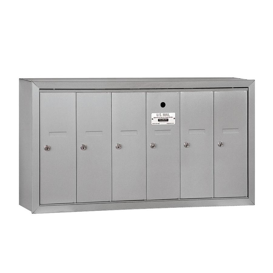 SALSBURY INDUSTRIES 3500 Series 35.25-in x 19-in Metal Aluminum Lockable Wall Mount Cluster Mailbox