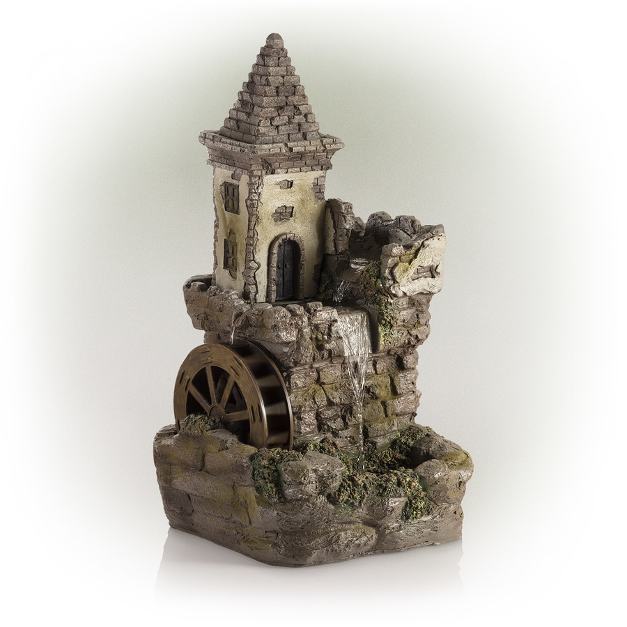 Alpine Corporation Castle Fairy Garden Fountain