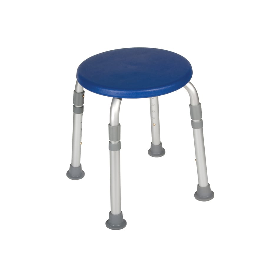 Drive Medical Blue Plastic Freestanding Shower Chair